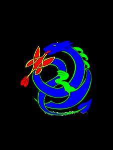 dragon bleu-vert